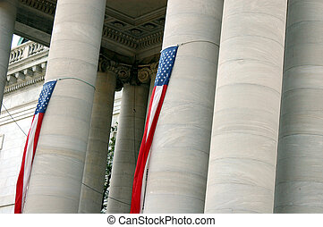 Government building - Columns at a government building in...