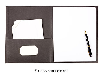 file folder with white background