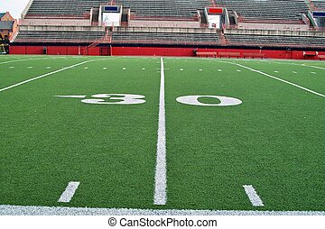 Thirty Yardline - A sideline view of the thirty yardline on...