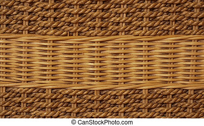 rattan plaited for background decoration and interior