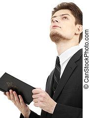 hombre, santo, biblia