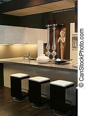 interior of kitchen - living part of modern kitchen