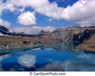 Lake Tilicho 5,100m , Nepal - One of the highest lakes in...