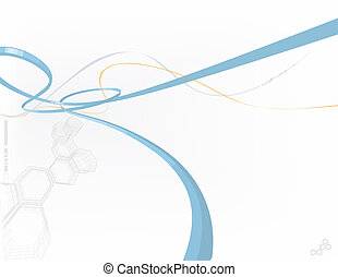 abstract background made of polygonal forms and curved lines