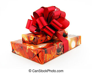 Present with red bow