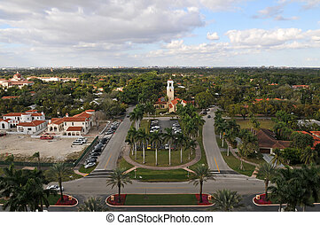 Coral Gables - Looking down on Coral Gables, Florida