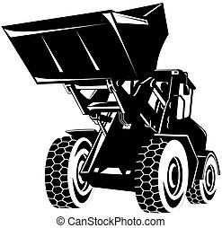 Front end loader - Illustration on construction