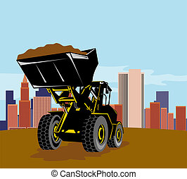 Loader with  building