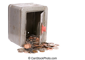 Vintage Toy Safe And Money - View of vintage childs toy...
