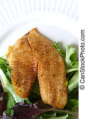 Tilapia fish seasoned