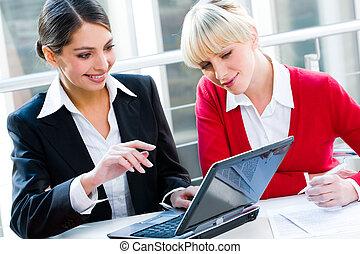 Two women - Portrait of two successful business women...