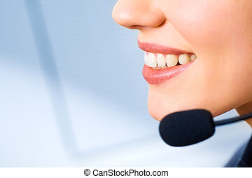 Mouth of consultant - Image of mouth of consultant with...