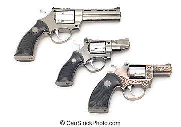 revolver lighter on white - object on white tool - pistol...