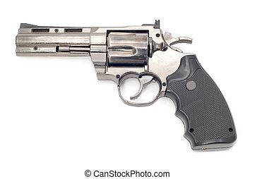 revolver - object on white tool - pistol lighter