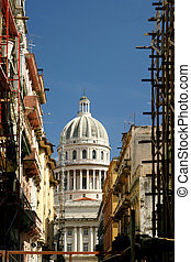 Reconstruction in Cuba - Reconstruction in Havana showing...