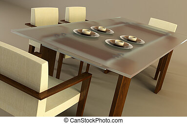 design of the dining room