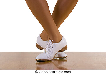 Tap-Top Dance Steps - Tap-top/Clog dance steps; on white