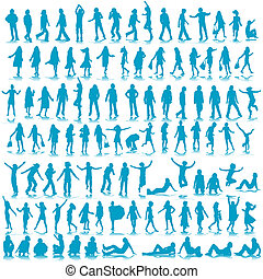 silhouettes - one hundred male and female silhouettes