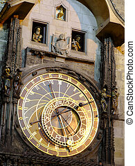 Astronomical clock - Detail of the astronomical clock in...