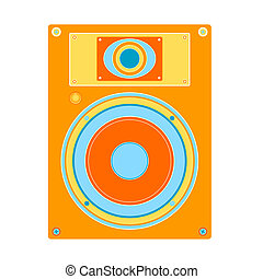 loudspeaker - retro style colored design, loudspeaker