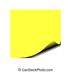 post it note - Photo of yellow post it note