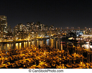 Granville Island Harbour, Vancouver - Taken from Burrard...