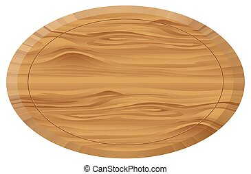 Wooden oval board , texture , background isolated on white