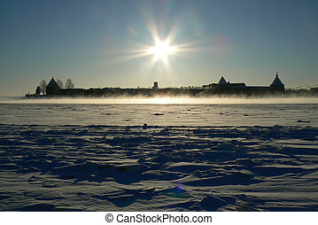 Nortern fortress, sun day - Nortern fortresson the island,...