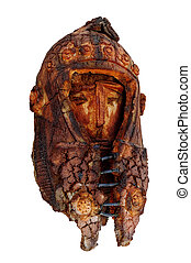 Fossilized warrior - Artwork of a warrior head with a helm