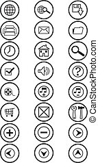 Website and Internet icons - Website and Internet icons -...
