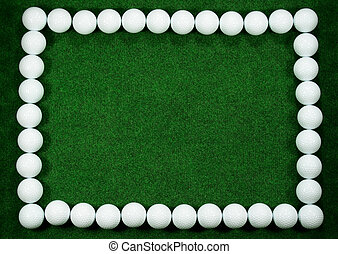 Golf frame with golfballs and a message area