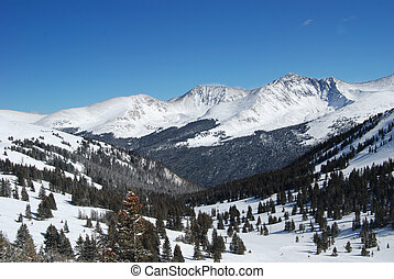 Colorado Mountains - View from the top of Copper Mountain,...