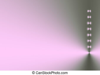 Silver Lilac Shimmer - Eight points of light in a vertical...