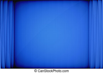Blue Curtain Abstract - An abstract illustration of blue...