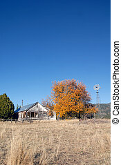 Abandoned Ranchhouse - Abandoned Ranch House in Autumn
