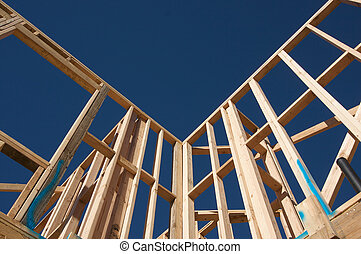 Construction Home Framing. - New residential construction...