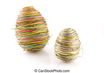 abstract eastereggs in different colors