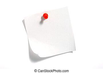 note, papier