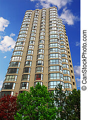 Apartment building - Tall condominium or apartment building...