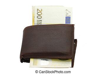 portafoglio,  200, conto,  euro
