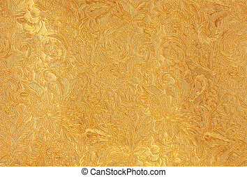 Pure gold - Background pattern made from pure gold floral