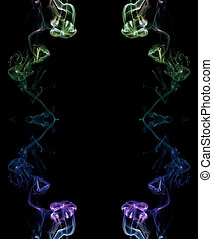 Coloured Smoke - abstract picture of coloured smoke on the...