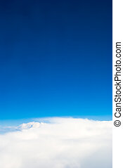 air view - Blue sky and clouds - air view