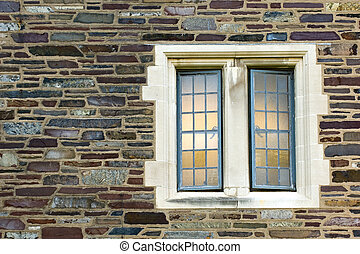 Stone house window - Window of old university campus...