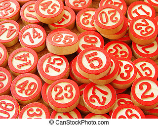 lotto - classic lotto wooden counters set...