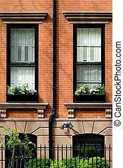 Spring in Brooklyn - Typical brownstone in Brooklyn Heights...
