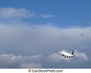 Civil Aircraft - Civil aircraft taking off at an airfield in...