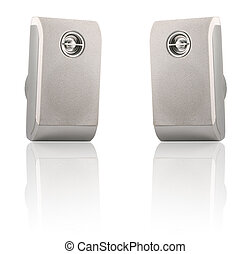 Stereo loudspeakers - Two stereo loudspeakers isolated on a...