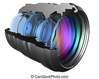 Lens - The optical scheme of a camera lens