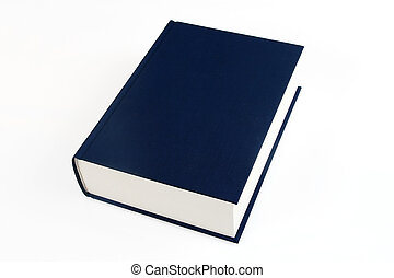 single book - single navy blue book over white background